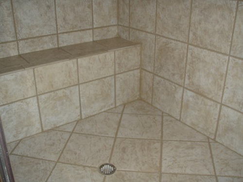 Simple ways to grout your floor and wall tiles interior design for Best way to clean grout in bathroom tiles