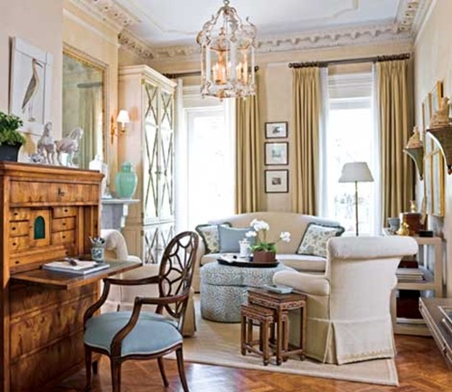 Traditional Interior Design By Ownby: Timeless Traditional French Living Room Design Ideas