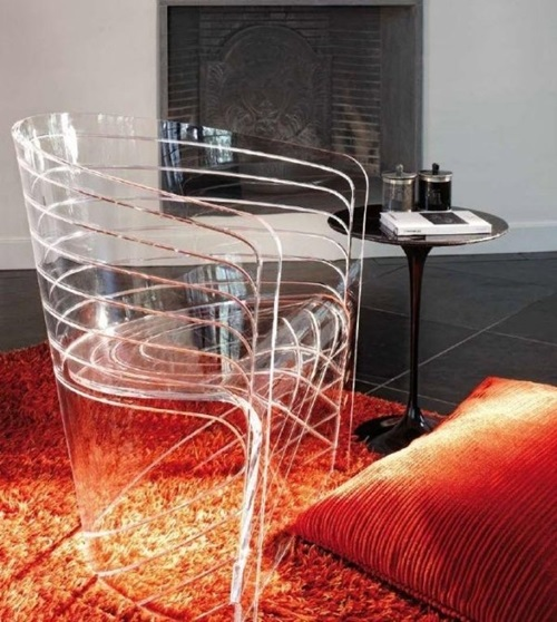 Trendy Transparent Furniture Pieces for a Modern Small Apartment