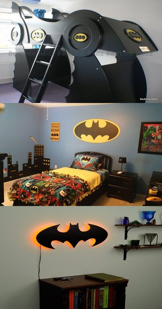 Batman theme for funny and practical kid's bedroom