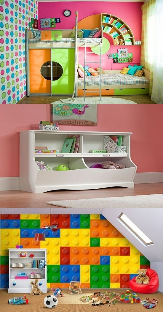 Enhance your child knowledge with a colorful bookcase