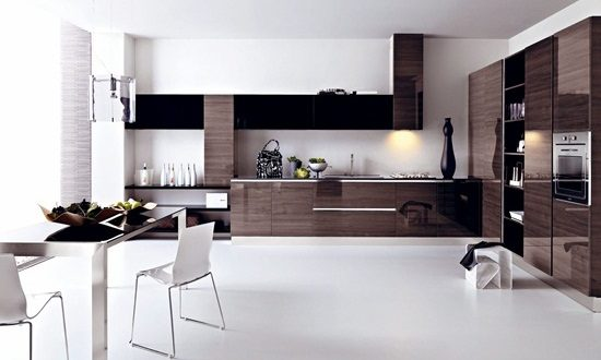 Enjoy cooking in a minimalist modern kitchen