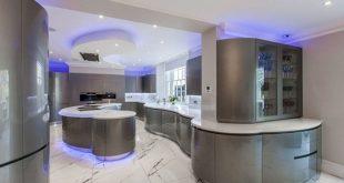 Futuristic kitchen LED lighting