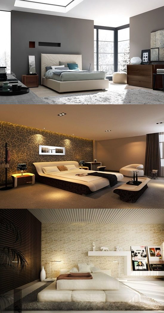 Get a fabulous bedroom look with the futuristic furniture .