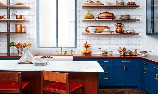 Have a gorgeous kitchen look with copper accents