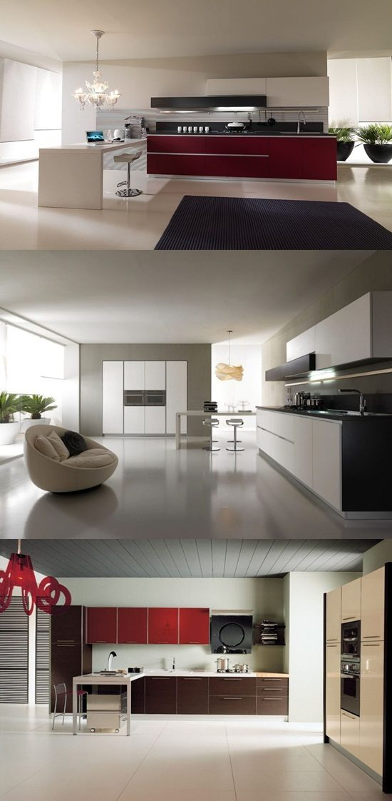 Have a stunning kitchen with a modern Italian decor