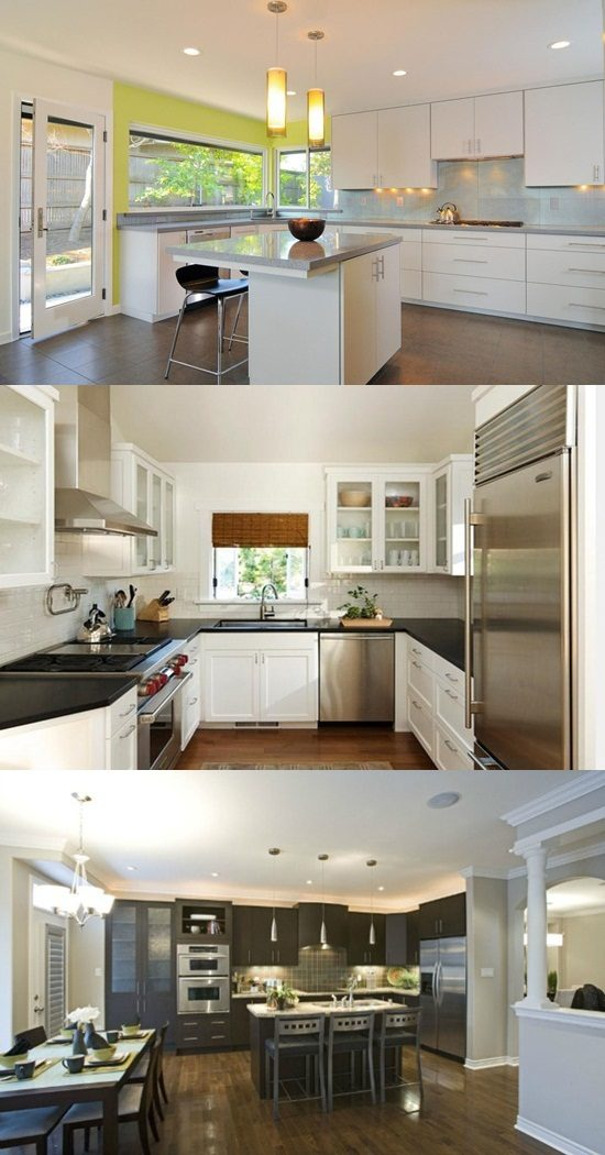How to enhance the cozy stylish look of your large kitchen