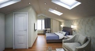 Inspirational attic bedroom's design ideas