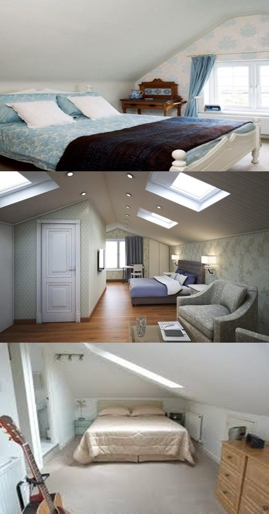 Inspirational attic bedroom's design ideas