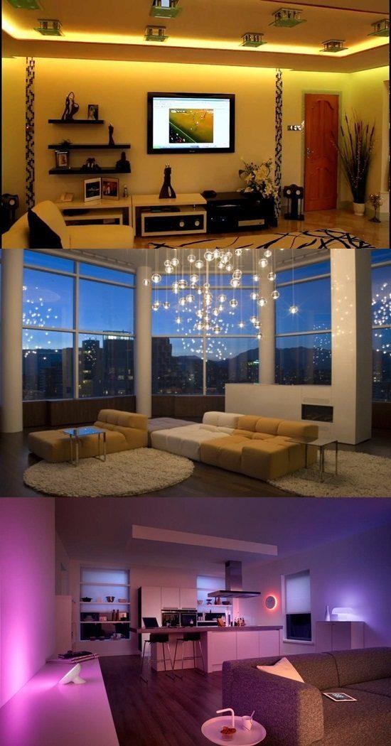 Interactive Home Lighting Options to Change the Room's Mood