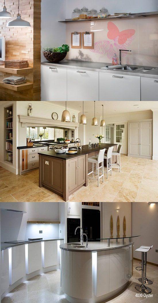 Practical and attractive kitchen's worktops