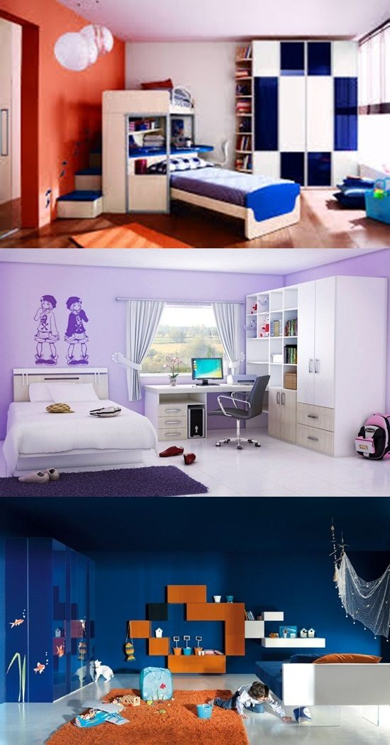 Ultra modern and cool kids' bedroom design