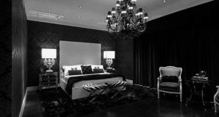bedroom with awesome black furniture