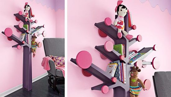 child knowledge with a colorful bookcase
