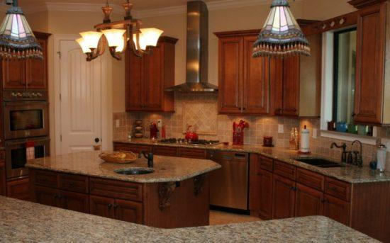 kitchen with a modern Italian décor