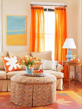 living room with spring inspiration