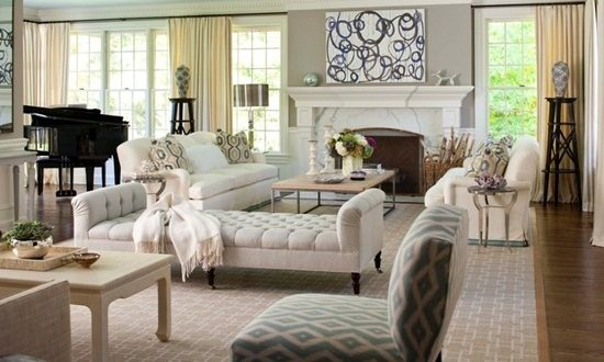 Add value to your living room by installing a luxurious curtain