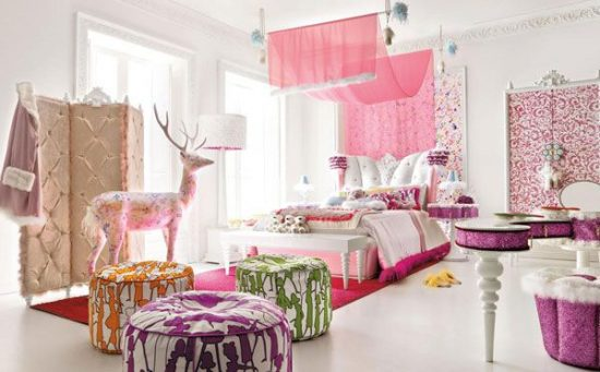 Beautiful bedroom design for your little girl