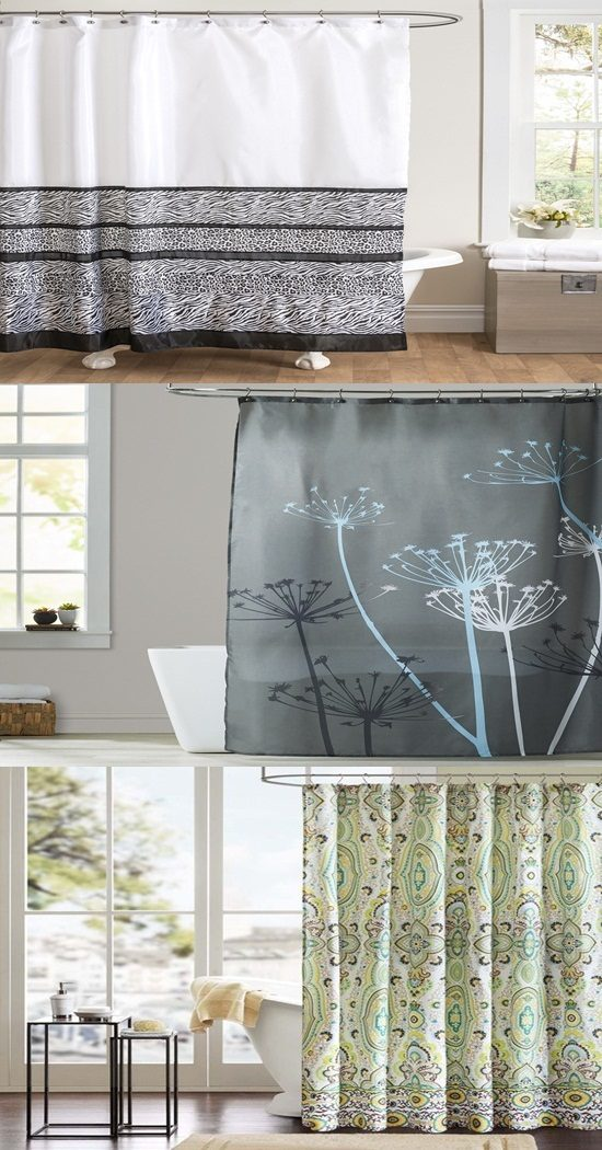 Enhance your bathroom with a beautifully printed shower curtain