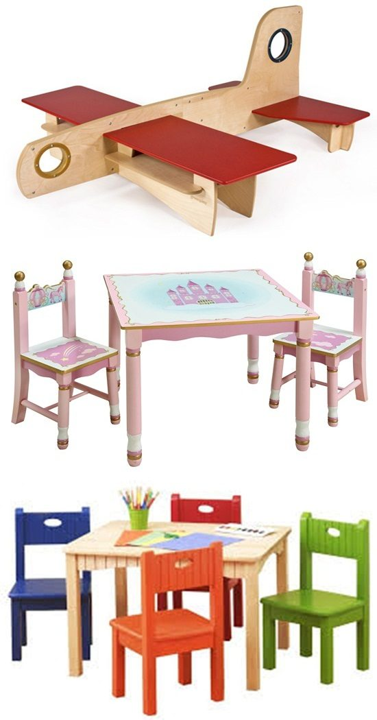 Enhance your kids' creativity and joyful feel by wooden furniture
