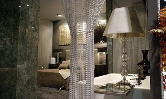 """Enhance your room with a simple """"Curtain"""" as a wall divider"""