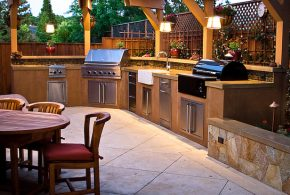 modern outdoor kitchen - Enjoy the time with your friends by creating a modern outdoor kitchen