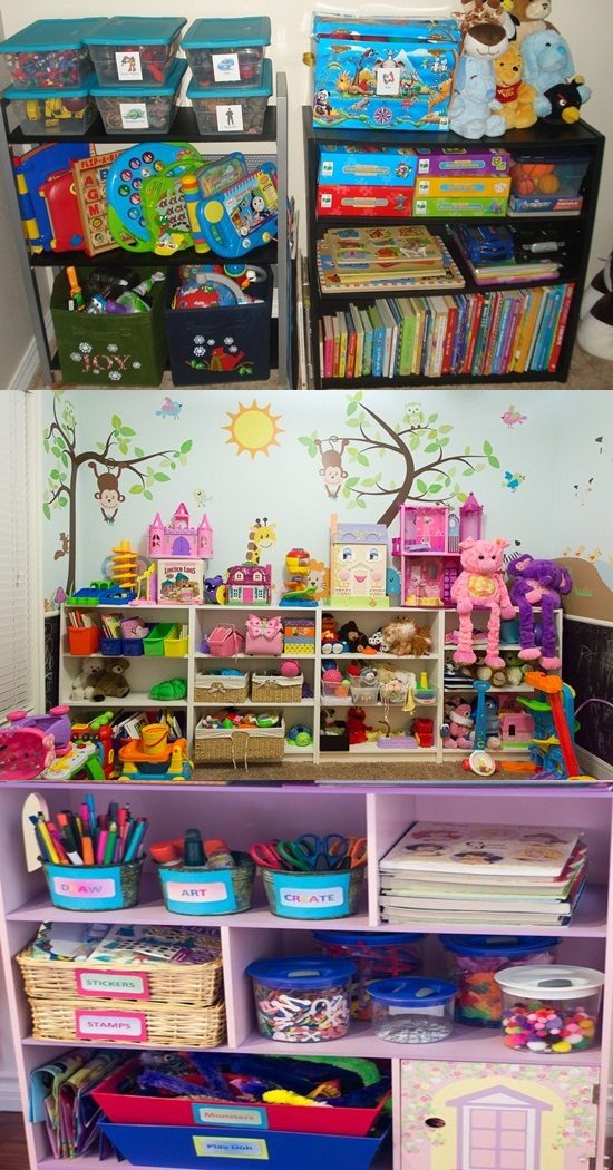 Few tips to create an organized and funny kids' playroom