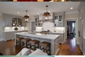 Have an elegant inviting kitchen in warm shades