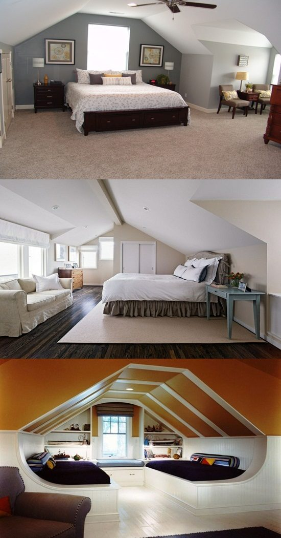 How to transform your attic into a nice master bedroom