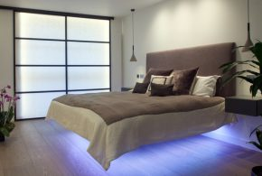 Light up your bedroom with charming LED light fixtures