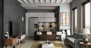 Masculine kitchen design according a male taste