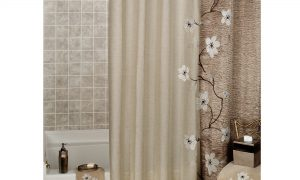 Get a creative look in your bathroom with nice modern curtain