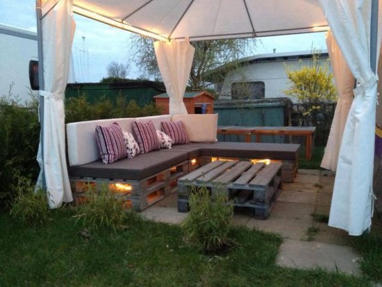 the summer with family and friends by getting recycled garden furniture