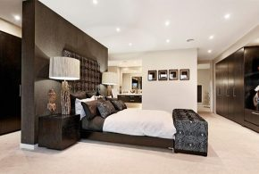 Enhance your master bedroom with a modern decor