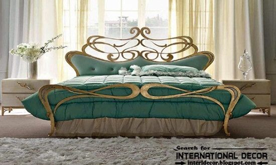 Create a luxurious look inside your bedroom by a wrought iron framed bed