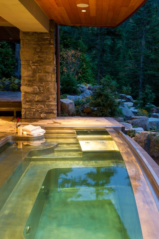 breathtaking indoor and outdoor spa design ideas by diamond spas - Spa Design Ideas