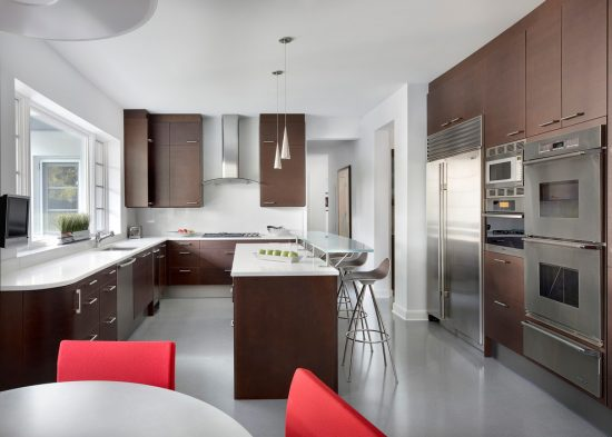 Breathtaking Modern Home Accent Colors by Blutter Shiff Design Associates