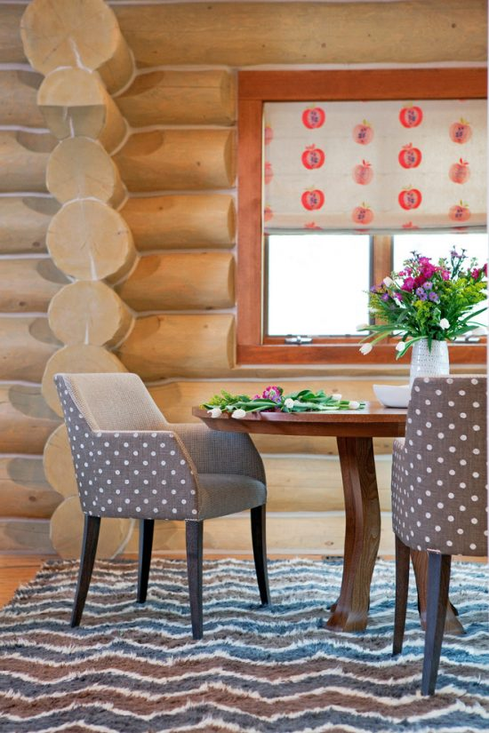 Create the Ambience of Logs with the Functionality of a Modern Home by Grace Home Design