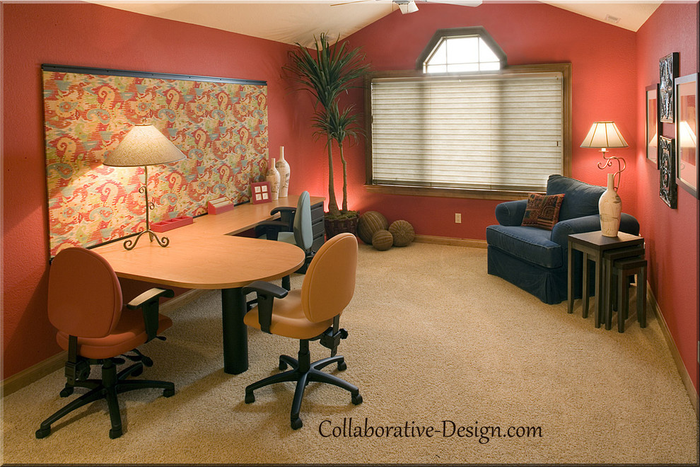 Creative rustic home office ideas by collaborative design Creative home office design