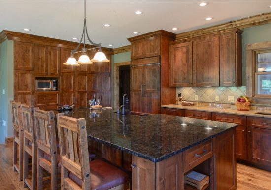 Sophisticated and warm kitchen finishes by copper leaf for Warm kitchen ideas