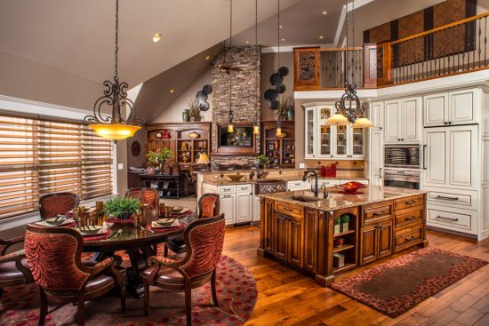 Sophisticated and warm kitchen finishes by copper leaf for Copper interior design