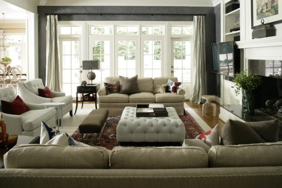 Intimate and Minimalist Traditional Family Room Decorative Tips by Heather Garrett Interior Design