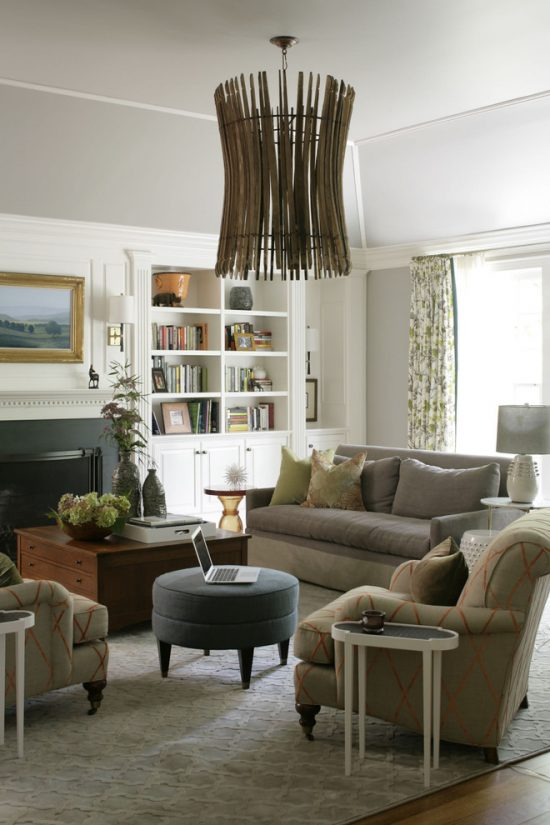 ... Intimate and Minimalist Traditional Family Room Decorative Tips by  Heather Garrett Interior Design ...