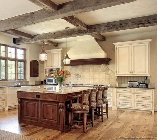 Beautify your modern kitchen design with an antique decor element interior design - Vintage art for your modern kitchen ...