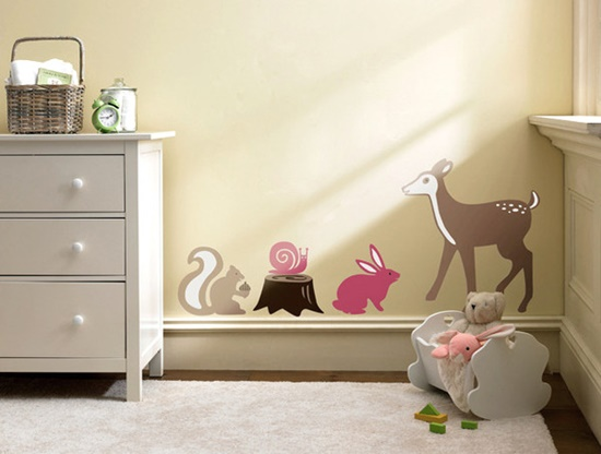 Creative wall decals and stickers to transform a kid's room look wonderfully