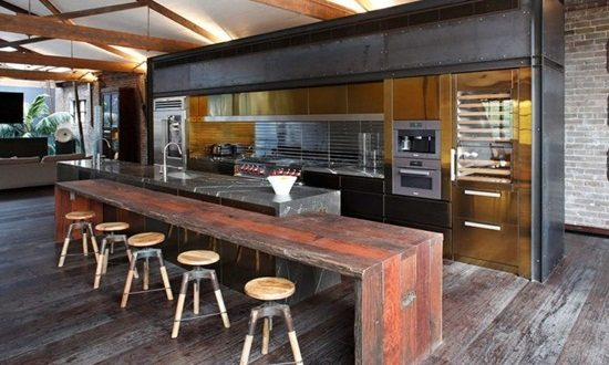 Get a perfect industrial kitchen that inspires you to be creative