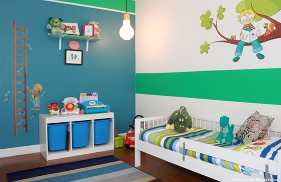 Have fun with decorating your child bright comfortable bedroom