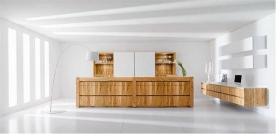 Stylish European kitchen design with sleek and clean look