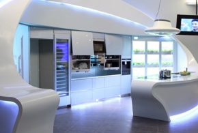 What a futuristic kitchen is supposed to be without high-technology refrigerator