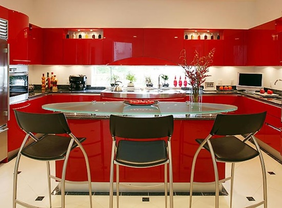 Modern Kitchen Designs Designs With Red Cabinets That Pop The Overall Look Interior Design